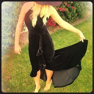 Gala / Ball / Prom Gown in Black Velvet